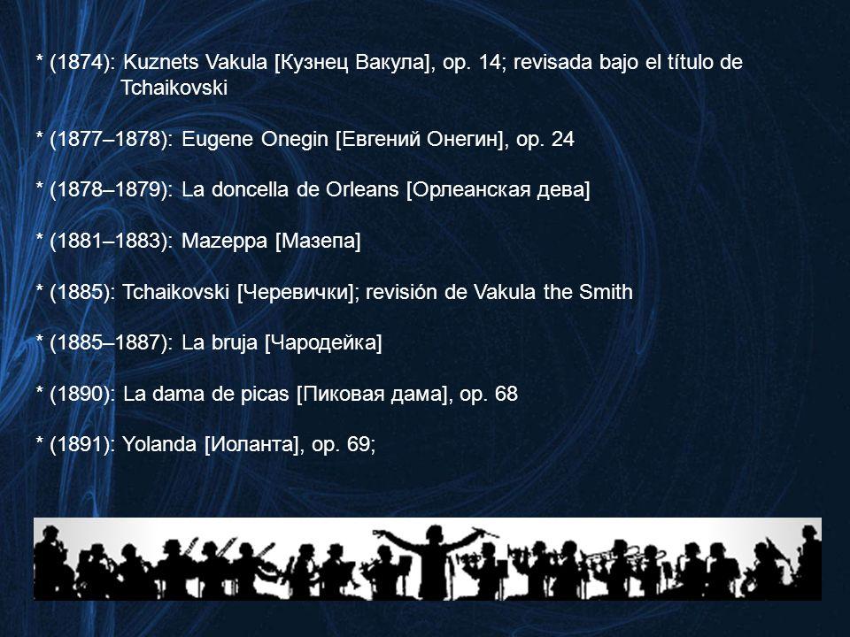 (1874): Kuznets Vakula [Кузнец Вакула], op